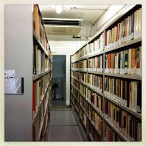 I volumi organizzati nello specifico archivio.