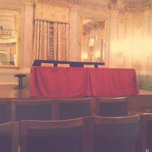 Sale Apollinee: il palco.