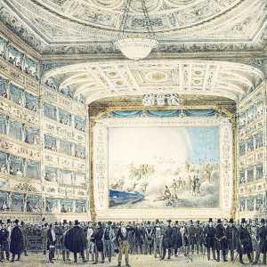 Interno del Teatro La Fenice (collezione del Museo Correr)
