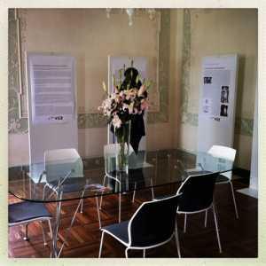 La sala riunioni presente al secondo piano di Villa Erizzo.