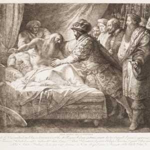 La morte di Leonardo da Vinci, allegoria, Giuseppe Cades, ca. 1780–99 — (Per gentile concessione The Metropolitan Museum of Art.)