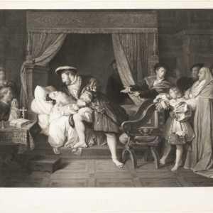 La morte di Leonardo da Vinci, Joseph Théodore Richomme —(Per gentile concessione The Metropolitan Museum of Art.)