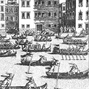 Women's Regatta - 17th century - Engraving by Giacomo Franco