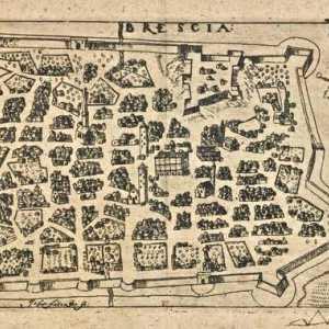 """Johan Faber junior Pianta di Brescia dal """"Paradisus Deliciarum"""" , Lipsia, Michael Lantzenberger, 1610"""