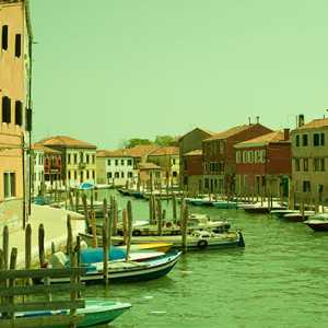 View of the internal Murano canal.