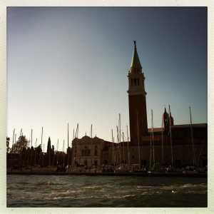 Il campanile e la darsena (il vecchio porto franco).