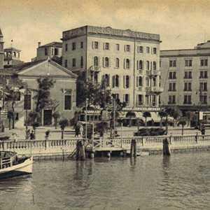 Immagine storica dell'approdo del Lido.