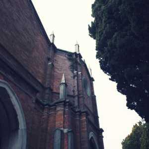 Particolare dell'edificio dell'entrata storica