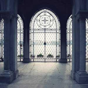 La porta d'ingresso dell'entrata storica collegata alle Fondamente Nuove dal ponte di barche.