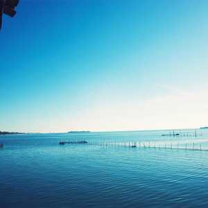 Veduta sulla laguna dalla loggia del Priorado, verso l'isola di Poveglia.