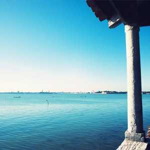 Veduta sulla laguna dalla loggia del Priorado, verso San Marco. — (Archivio Venipedia/Bazzmann)