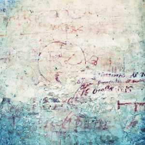 Tracce di scritte commerciali, durante l'uso a lazzaretto. — (Archivio Venipedia/Bazzmann)