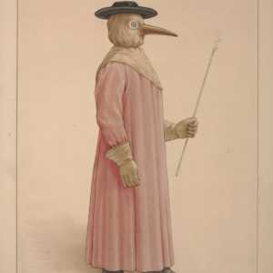 Uno degli abiti utilizzati come medico della peste (XXVII secolo) — (Credit: Wellcome Collection)