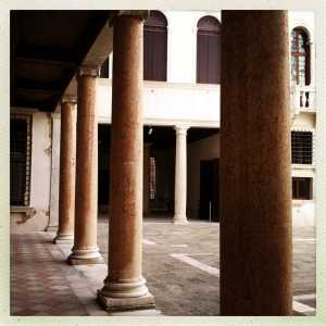 The portico of the courtyard.