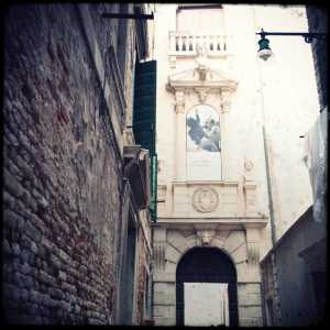 The entrance to Palazzo Grimani.