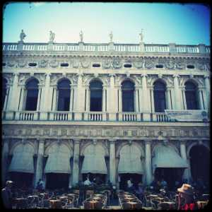 The facade of the Procuratie Nuove apposite the Palazzo Ducale