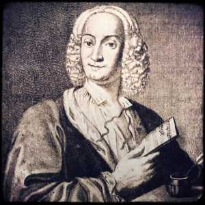 Incisione raffigurante Antonio Vivaldi di François Morellon la Cave.