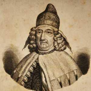 Incisione raffigurante il doge Giovanni Corner II