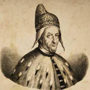 Incisione raffigurante il doge Francesco Molin
