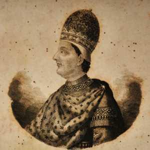 Incisione raffigurante il doge Maurizio Galbajo.