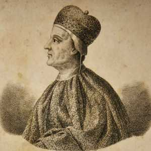 Incisione raffigurante il doge Ordelaffo Faliero.