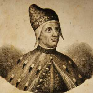 Incisione raffigurante il doge Francesco Foscari
