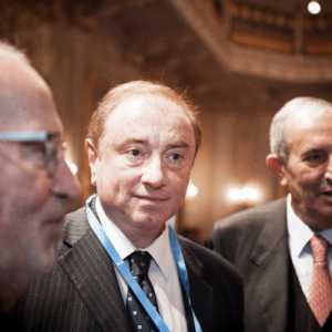 Fabrizio insieme al sindaco di Venezia, Giorgio Orsoni.