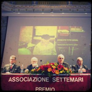 Tito Canal, Veneziano dell'anno 2013, premiato al teatro La Fenice