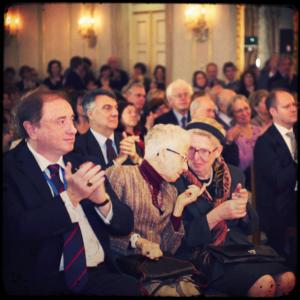 Tra il pubblico, il Veneziano dell'anno 2012 Fabrizio Tamburini, l'ex moglie di Canal Sally Spector e la sorella Anna Canal