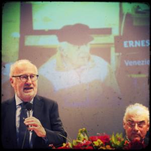 Il sindaco Orsoni interviene alla premiazione del Veneziano dell'anno 2013 - Ernesto Tito Canal - Teatro La Fenice