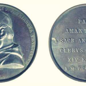 Francesco Stiore, 1874, medaglia Giuseppe Luigi Trevisanato