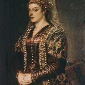 Dipinto raffigurante Caterina Cornaro, opera di Tiziano.