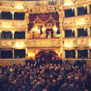 Il pubblico in sala al Gran Teatro La Fenice.
