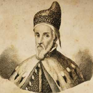 Engraving depicting the doge Marino Grimani.