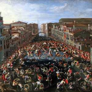 Joseph Heintz the Younger, Competition at the bridge of fists in Venice, 1673, Germanisches Nationalmuseum, Nuremberg.