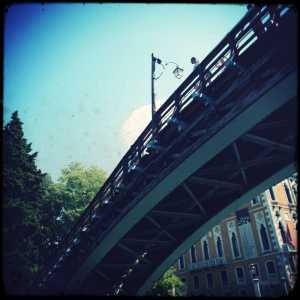 Il ponte dell'Accademia visto da sotto