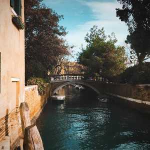Vista del ponte dal rio. — (Archivio Venipedia/Bazzmann)